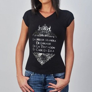Camisetas de mujer negras